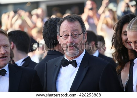 CANNES, FRANCE - MAY 20: Jean Reno attends a screening of 'The Last Face' at the annual 69th Cannes Film Festival at Palais des Festivals on May 20, 2016 in Cannes, France. - stock photo