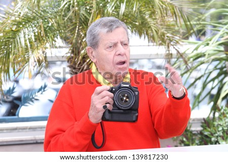CANNES, FRANCE - MAY 23: Jerry Lewis attends the 'Max Rose' photocall during The 66th Annual Cannes Film Festival at the Palais des Festivals on May 23, 2013 in Cannes, France. - stock photo