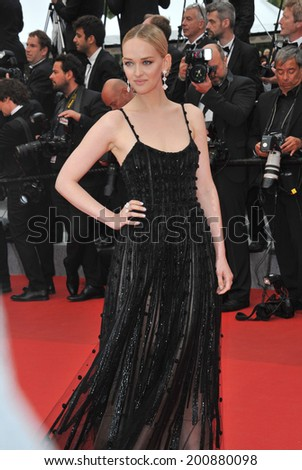 "CANNES, FRANCE - MAY 19, 2014: Jess Weixler at the gala premiere of Foxcatcher"" at the 67th Festival de Cannes."