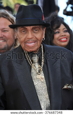 "CANNES, FRANCE - MAY 23, 2014: Joe Jackson at gala premiere of ""Clouds of Sils Maria"" at the 67th Festival de Cannes."