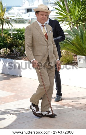 "CANNES, FRANCE - MAY 15, 2015: John C. Reilly at the photocall for his movie ""The Lobster"" at the 68th Festival de Cannes."