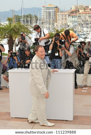 "CANNES, FRANCE - MAY 13, 2009: John Lasseter at photocall for his new movie ""Up"" which is the opening movie for the 2009 Cannes Film Festival."