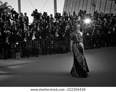 "CANNES, FRANCE - MAY 15, 2014: Julianne Moore at the premiere of ""Mr. Turner"" at the 67th Festival de Cannes on May 14, 2014 in Cannes, France. - stock photo"