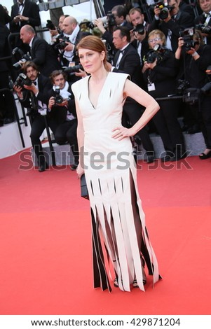 Cannes, France - 12 MAY 2016: Julianne Moore attends the screening of  'Money Monster' at the annual 69th Cannes Film Festival.