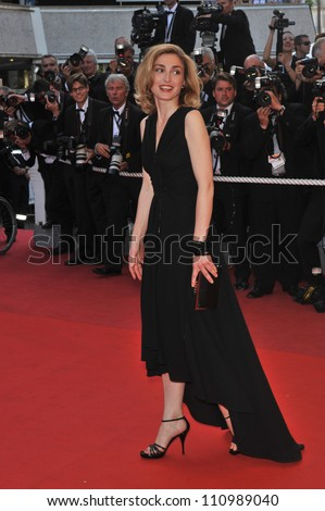 CANNES, FRANCE - MAY 24, 2009: Julie Gayet at the closing awards gala at the 62nd Festival de Cannes.