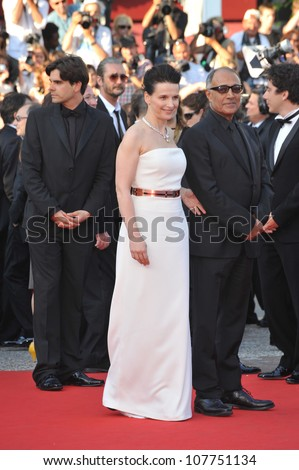 CANNES, FRANCE - MAY 23, 2010: Juliette Binoche at the closing Awards Gala at the 63rd Festival de Cannes.