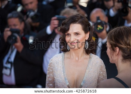 Cannes, France - 20 MAY 2016 - Juliette Binoche attends the screening of 'The Last Face' at the annual 69th Cannes Film Festival