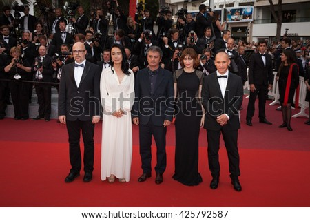 Cannes, France - 22 MAY 2016 - Jury De La Cinefondation & Des Courts Metrages members Naomi Kawase and Jean-Marie Larrieu attend the closing ceremony of the 69th annual Cannes Film Festival