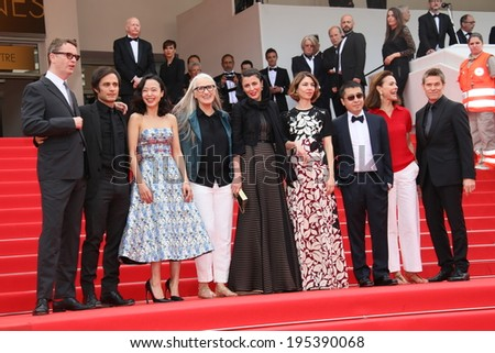 CANNES, FRANCE - MAY 25: Jury member  attends the red carpet for the Palme D'Or winners at the 67th Annual Cannes Film Festival on May 25, 2014 in Cannes, France. - stock photo