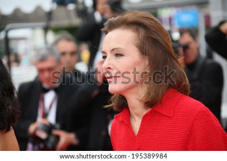CANNES, FRANCE - MAY 25: Jury member Carole Bouquet attends the red carpet for the Palme D'Or winners at the 67th Annual Cannes Film Festival on May 25, 2014 in Cannes, France. - stock photo