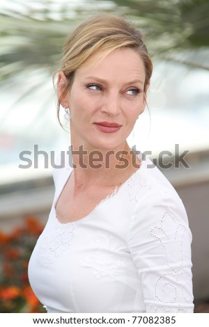 CANNES, FRANCE - MAY 11: Jury member Uma Thurman attends the Jury Photocall at the Palais des Festivals during the 64th Cannes Film Festival on May 11, 2011 in Cannes, France. - stock photo