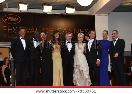 CANNES, FRANCE - MAY 22: Jury Members attends the 'Les Bien-Aimes' premiere at the Palais des Festivals during the 64th Cannes Film Festival at Palais des Festivals on May 22, 2011 in Cannes, France. - stock photo