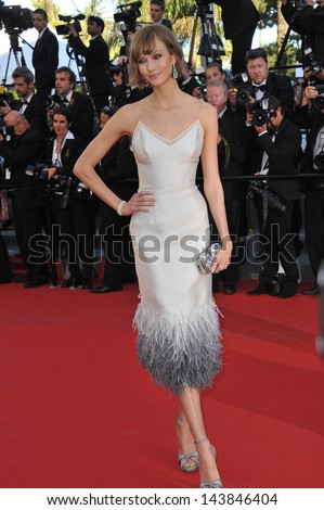 "CANNES, FRANCE - MAY 23, 2013: Karlie Kloss at the premiere of ""The Immigrant"" at the 66th Festival de Cannes.  - stock photo"