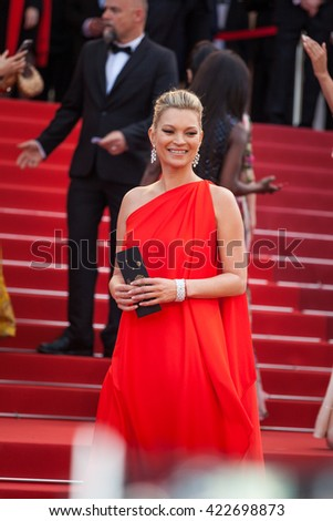 Cannes, France - 16 MAY 2016 - Kate Moss attends the 'Loving' Premiere at the annual 69th Cannes Film Festival at Palais des Festivals