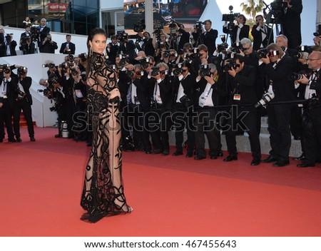 "CANNES, FRANCE - MAY 15, 2016: Kendall Jenner at the gala premiere of ""From the Land of the Moon"" (""Mal de Pierres"") at the 69th Festival de Cannes."