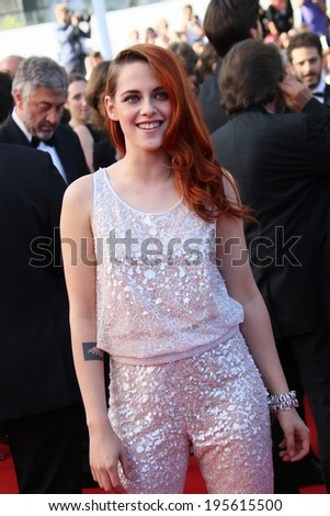 CANNES, FRANCE - MAY 23: Kristen Stewart attends the 'Clouds Of Sils Maria' premiere at the 67th Annual Cannes Film Festival on May 23, 2014 in Cannes, France. - stock photo
