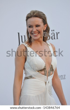 CANNES, FRANCE - MAY 23, 2013: Kylie Minogue at amfAR's 20th Cinema Against AIDS Gala at the Hotel du Cap d'Antibes, France  - stock photo
