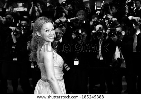 CANNES, FRANCE - MAY 27: Kylie Minogue attends the Closing Ceremony Premiere during the 65th Cannes Film Festival on May 27, 2012 in Cannes, France. - stock photo