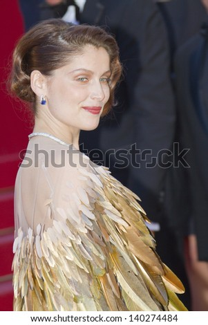 CANNES, FRANCE - MAY 26: Laetitia Casta attends the Premiere of 'Zulu' and the Closing Ceremony of The 66th  Cannes Film Festival at Palais on May 26, 2013 in Cannes, France. - stock photo