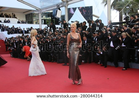 CANNES, FRANCE - MAY 20, 2015: Lara Stone attends the 'Youth' Premiere during the 68th annual Cannes Film Festival on May 20, 2015 in Cannes, France. - stock photo
