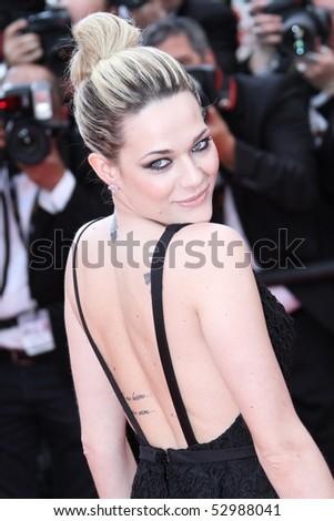 CANNES, FRANCE - MAY 12: Laura Chiatti attend the 'Robin Hood' Premiere at the Palais des Festivals during the 63rd Cannes Film Festival on May 12, 2010 in Cannes, France