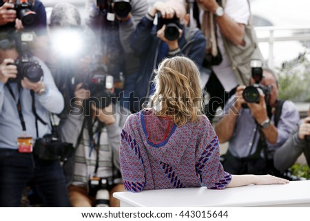 CANNES, FRANCE - MAY 13: Lily Rose Depp attends the 'The Dancer' photo-call during the 69th Cannes Film Festival on May 13, 2016 in Cannes, France. - stock photo