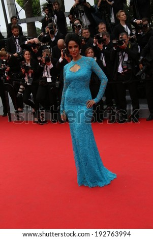 CANNES, FRANCE - MAY 14: Mallika Sherawat attends the opening ceremony and 'Grace of Monaco' premiere at the 67th Annual Cannes Film Festival on May 14, 2014 in Cannes, France. - stock photo