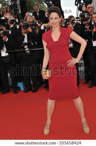 "CANNES, FRANCE - MAY 17, 2012: Marie Gillain at the premiere of ""Rust & Bone"" in competition at the 65th Festival de Cannes. May 17, 2012  Cannes, France"