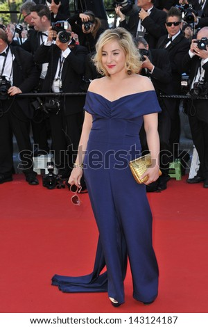 "CANNES, FRANCE - MAY 17, 2013: Marilou Berry at the gala premiere of ""The Past"" (Le Passe) in competition at the 66th Festival de Cannes."