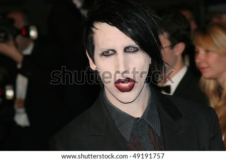 CANNES, FRANCE - MAY 21: Marilyn Manson attend the 'Over The Hedge' premiere at the Palais Des Festivals during the 59th International Cannes Film Festival May 21, 2006 in Cannes, France