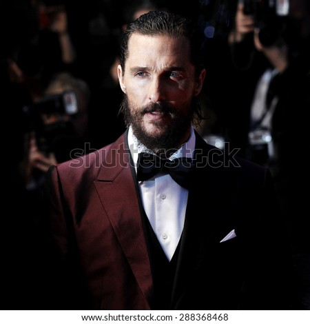 CANNES, FRANCE- MAY 16: Matthew McConaughey attends 'The Sea Of Trees' Premiere during the 68th Cannes Film Festival on May 16, 2015 in Cannes, France.