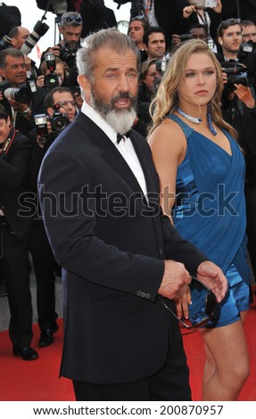 "CANNES, FRANCE - MAY 18, 2014: Mel Gibson promotiing his new movie ""The Expendable 3"" at the 67th Festival de Cannes."