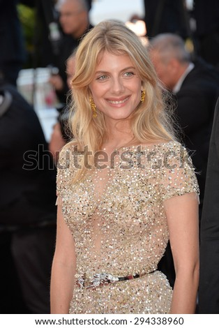 """CANNES, FRANCE - MAY 18, 2015: Melanie Laurent at the gala premiere of Disney/Pixar's """"Inside Out"""" at the 68th Festival de Cannes. - stock photo"""