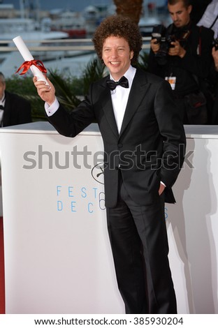 CANNES, FRANCE - MAY 24, 2015: Michel Franco - winner of Best Screenplay Award - at the winners' photocall at the 68th Festival de Cannes. - stock photo