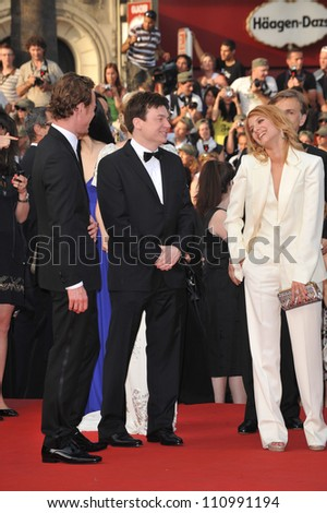 "CANNES, FRANCE - MAY 20, 2009: Mike Myers & Melanie Laurent at the premiere of their new movie ""Inglourious Basterds"" in competition at the 62nd Festival de Cannes."