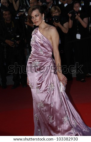CANNES, FRANCE - MAY 23: Milla Jovovitch attends the 'On The Road' Premiere during the 65th Annual Cannes Film Festival at Palais des Festivals on May 23, 2012 in Cannes, France.
