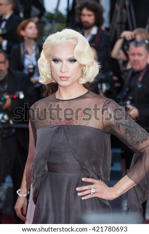 Cannes, France - 15 MAY 2016 - Miss Fame attends the screening of 'From The Land And The Moon (Mal De Pierres)' at the annual 69th Cannes Film Festival