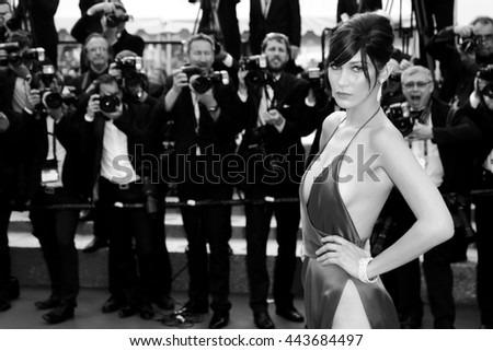 CANNES, FRANCE - MAY 18: Model Bella Hadid attends 'The Unknown Girl' Premiere during the 69th Cannes Film Festival on May 18, 2016 in Cannes