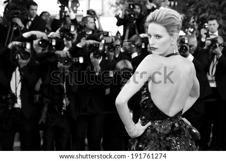 CANNES, FRANCE - MAY 22: Model Karolina Kurkova attends the 'Killing Them Softly' premiere during the 65th Cannes Film Festival on May 22, 2012 in Cannes, France - stock photo