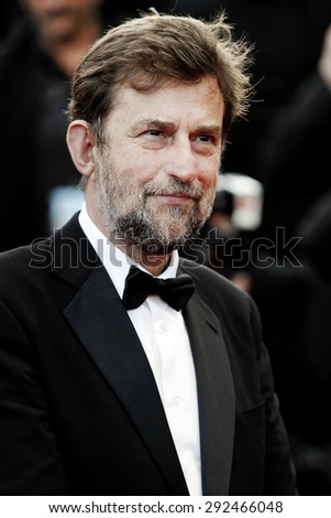 CANNES, FRANCE- MAY 16: Nanni Moretti attends the 'My Mother' premiere during the 68th Cannes Film Festival on May 16, 2015 in Cannes, France. - stock photo