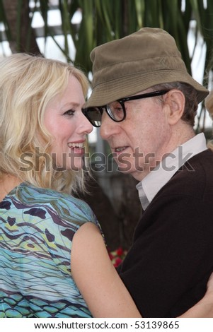 CANNES, FRANCE - MAY 15:  Naomi Watts and Woody Allen  attend the 'You Will Meet A Tall Dark Stranger' Photocall held  during the 63rd  Cannes Film Festival on May 15, 2010 in Cannes, France - stock photo