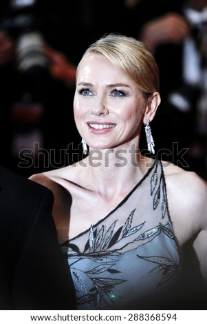 CANNES, FRANCE- MAY 16: Naomi Watts attends 'The Sea Of Trees' Premiere during the 68th Cannes Film Festival on May 16, 2015 in Cannes, France. - stock photo