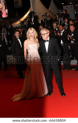 CANNES, FRANCE - MAY 15:  Naomie Watts and Woody Allen,  attend premiere at the Palais during the 63 Cannes Festival on May 15, 2010 in Cannes, France. - stock photo