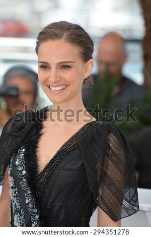 """CANNES, FRANCE - MAY 17, 2015: Natalie Portman at the photocall for her movie """"A Tale of Love and Darkness"""" at the 68th Festival de Cannes. - stock photo"""