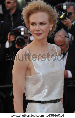 "CANNES, FRANCE - MAY 25, 2013: Nicole Kidman at the gala premiere for ""Venus in Fur"" in competition at the 66th Festival de Cannes."