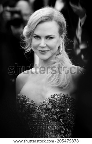CANNES, FRANCE - MAY 14: Nicole Kidman attends the 'Grace of Monaco' premiere during the 67th Annual Cannes Film Festival on May 14, 2014 in Cannes, France.  - stock photo