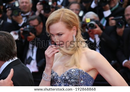 CANNES, FRANCE - MAY 14: Nicole Kidman attends the opening ceremony and 'Grace of Monaco' premiere at the 67th Annual Cannes Film Festival on May 14, 2014 in Cannes, France. - stock photo