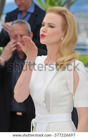 "CANNES, FRANCE - MAY 14, 2014: Nicole Kidman photocall for her movie ""Grace of Monaco"" at the 67th Festival de Cannes."