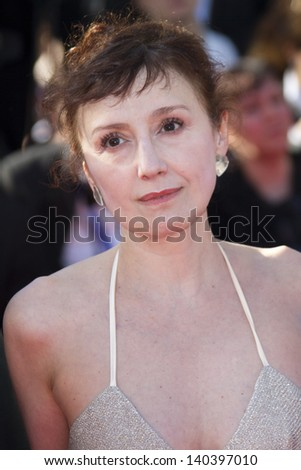 CANNES, FRANCE - MAY 26: Nicoletta Braschi   attends the Premiere of 'Zulu' and the Closing Ceremony of The 66th  Cannes Film Festival at Palais on May 26, 2013 in Cannes, France. - stock photo