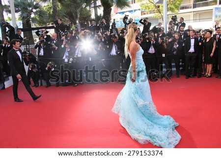 CANNES, FRANCE - MAY 18:  Nina Agdal attends the Premiere of 'Inside Out' during the 68th annual Cannes Film Festival on May 18, 2015 in Cannes, France. - stock photo